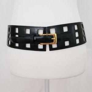 Per Se Perforated Grid Pattern Belt - Large